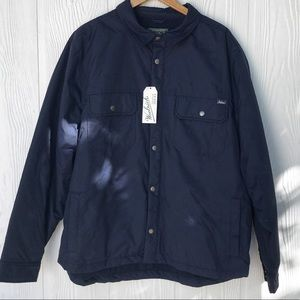 NWT Woolrich Trout Run Lined Shirt in Navy, XL